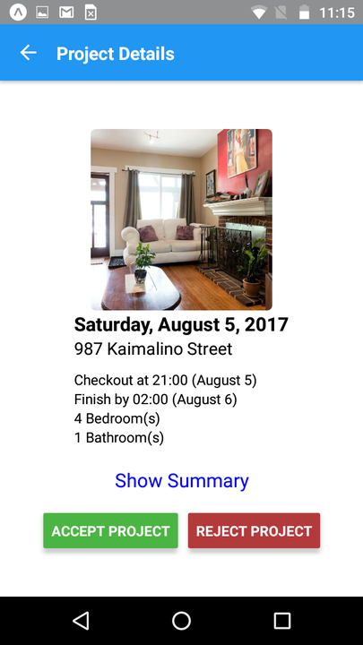 TurnoverBnB Vacation Rental Cleaning Mobile App Project Details