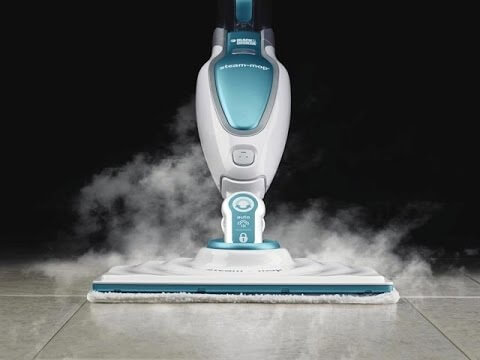 Vacation Rental Cleaners love the Black and Decker steam mop