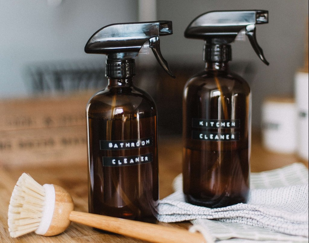 DIY cleaning sprays. Photo by Daiga Ellaby on Unsplash
