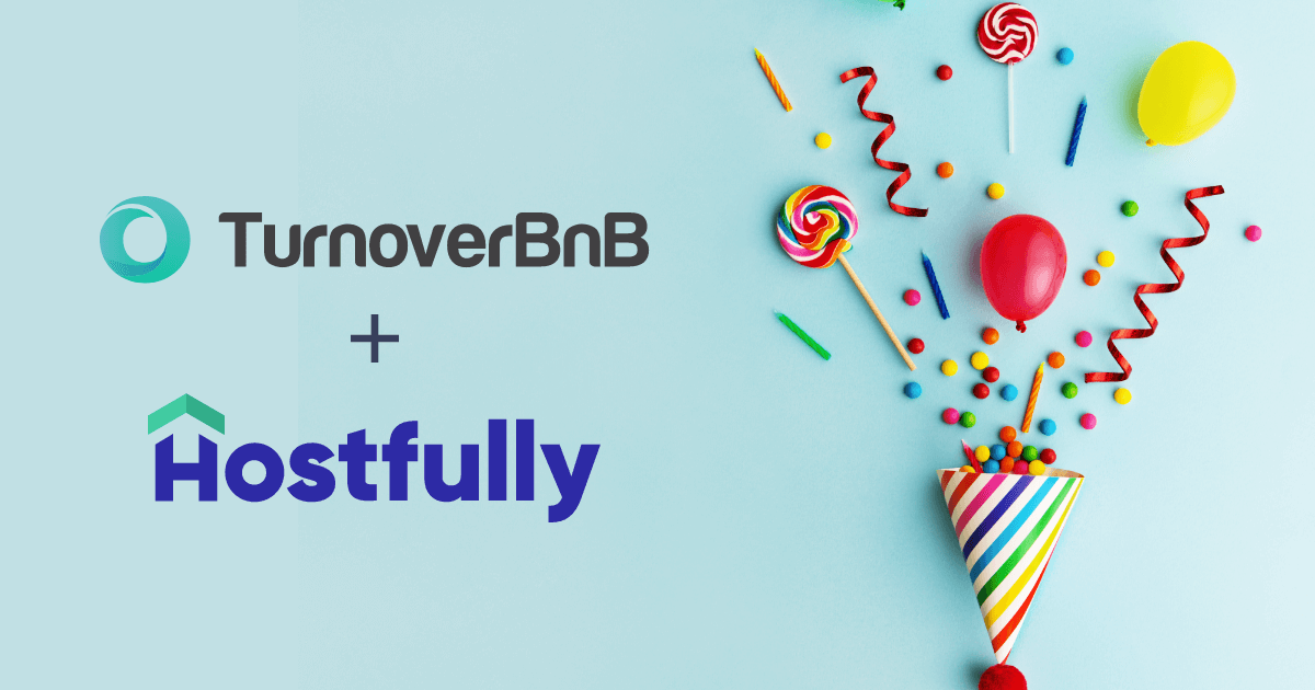 TurnoverBnB+Hostfully partnership announcement.