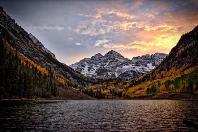 Maroon Bells, USA. Photo by Mike Scheid on Unsplash.